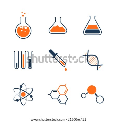 chemistry simple vector icon