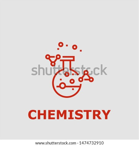 Chemistry symbol. Outline chemistry icon. Chemistry vector illustration for graphic art.