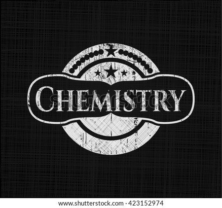 Chemistry with chalkboard texture
