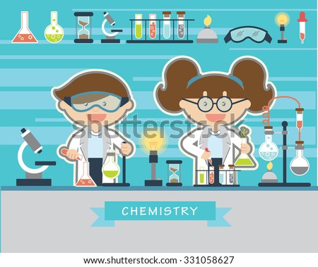 chemists scientists at work