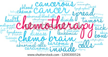 chemotherapy word cloud on a