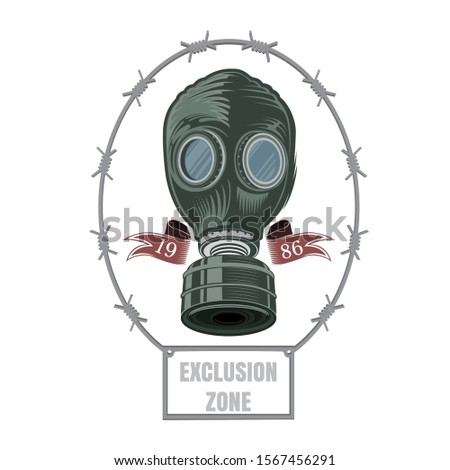 chernobyl color gas mask of