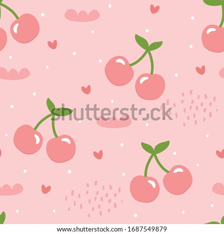 cherry and strawberry pattern