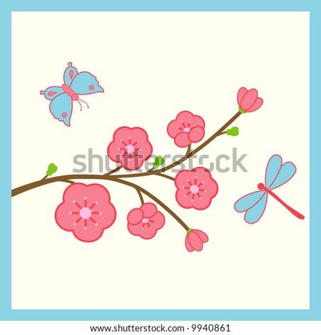 Cherry blossom stock vector