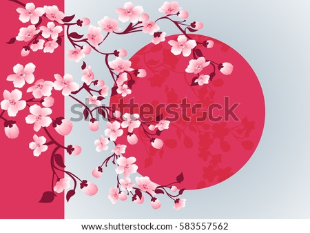 cherry blossom art picture