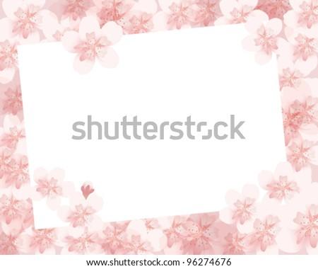 Blossom Picture Frames Cherry Blossom Flowers Frame