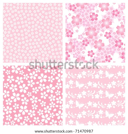 cherry blossom pattern - stock vector