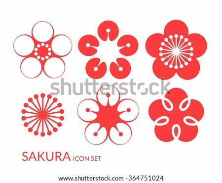 cherry blossom sakura icon