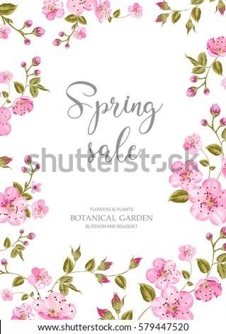 cherry blossom sale card