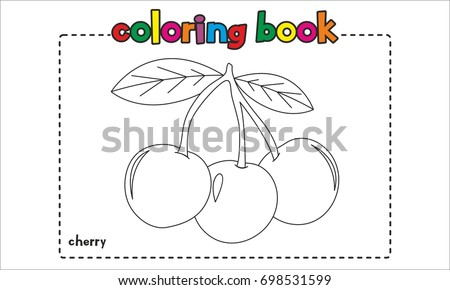 Cherry Coloring Book, Coloring Page