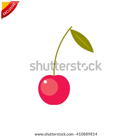 cherry icon  vector cherry icon
