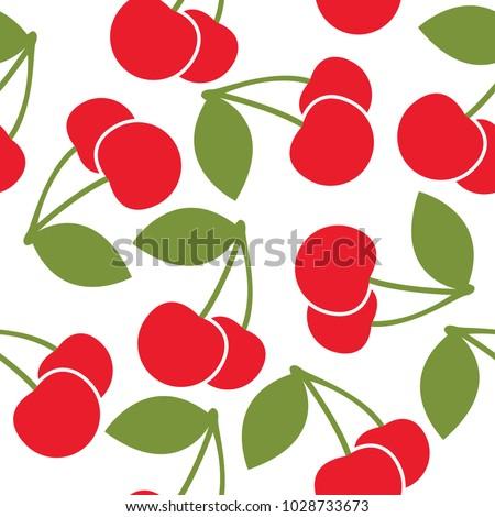 Cherry pattern vector design