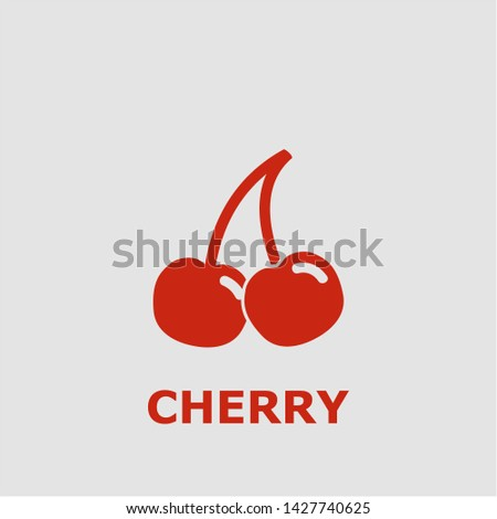 cherry symbol outline cherry