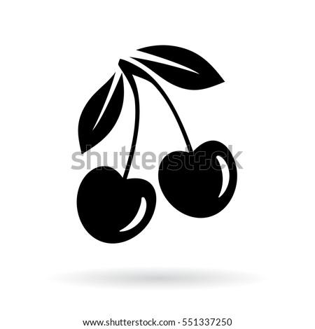 Cherry vector icon