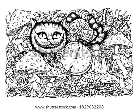 Alice In Wonderland Printable Coloring Pages At GetDrawings Free Download