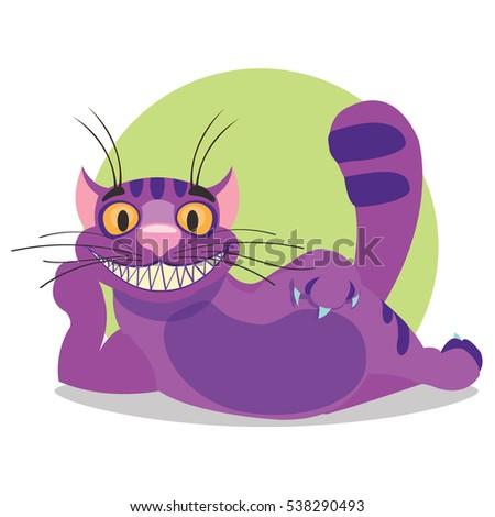 cheshire cat illustration to