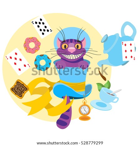 cheshire cat in a hat and a