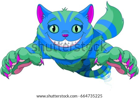 cheshire cat jumping and