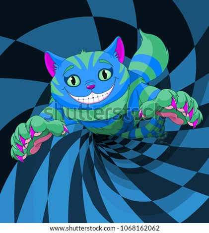 cheshire cat jumping to the
