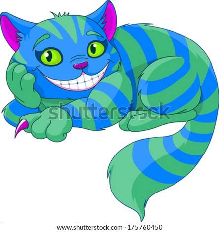 cheshire cat levitating in the
