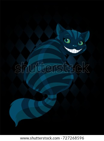 cheshire cat sitting and