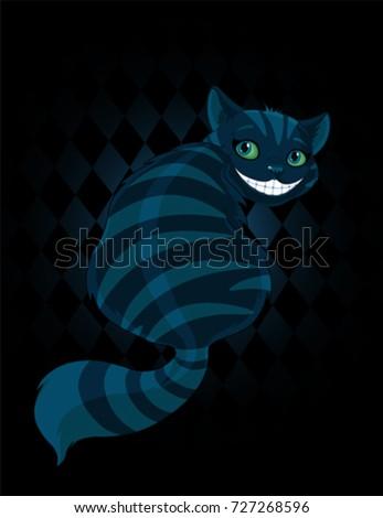 cheshire cat sitting and