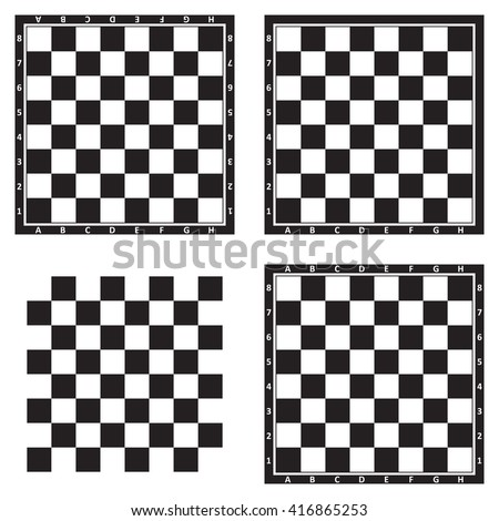 Chess board background design, black and white, vector illustration.