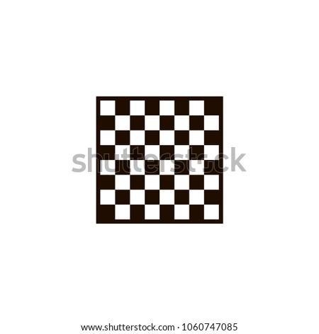 chess board icon. flat design Photo stock ©
