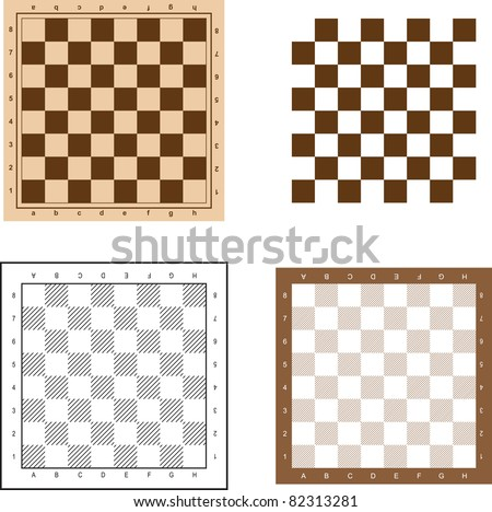 chess board set vector