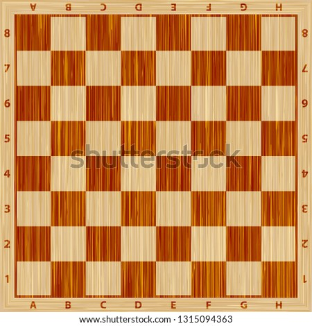 Chess board vector. Wooden chess board. Chess board background. Chess board illustration. Chessboard brown pattern.