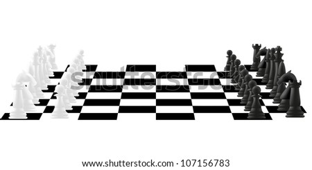chess board with figures vector illustration