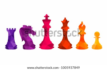 chess colorful figures pieces