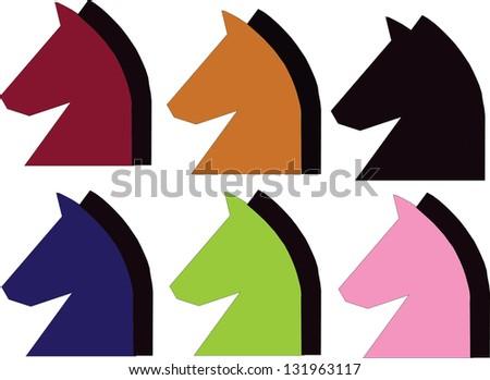 Chess figure horse set