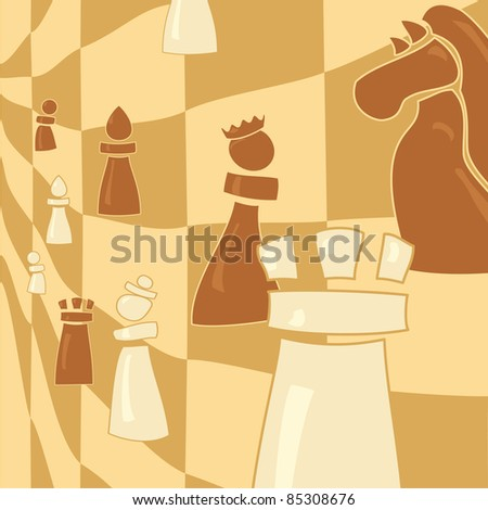 chess figure on abstract background - stock vector