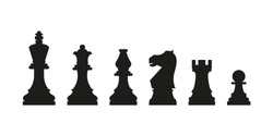 Chess icon. Simple vector illustration.