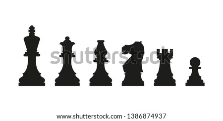 chess icon simple vector
