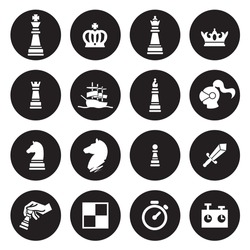 Chess icons. Vector