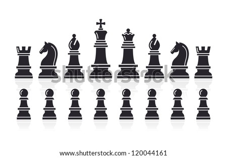 Stock Photo Chess icons. Vector Illustration.