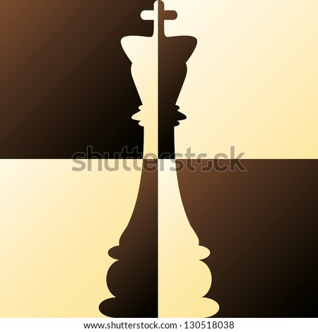 Chess King vector illustration