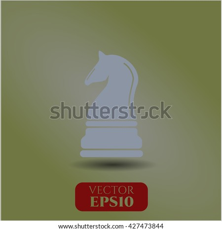 Chess knight icon or symbol