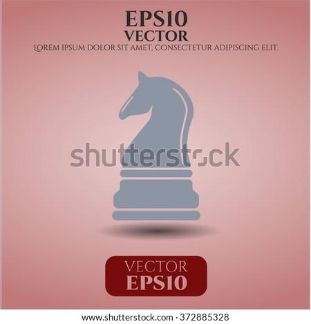 Chess knight icon vector illustration
