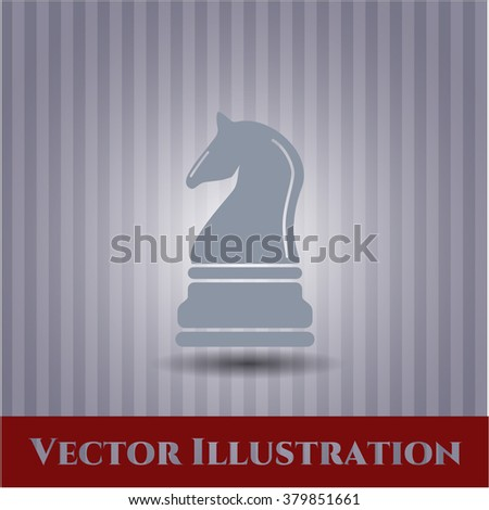 Chess knight icon vector illustration