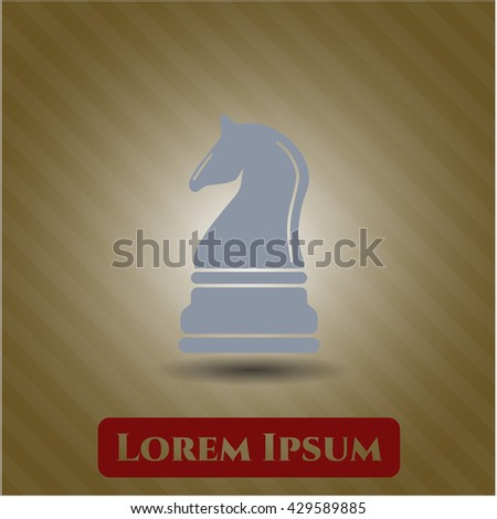 chess knight icon vector symbol flat eps jpg app web
