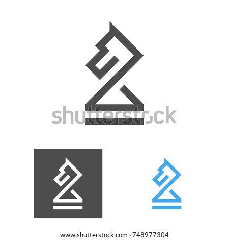 chess knight logo template