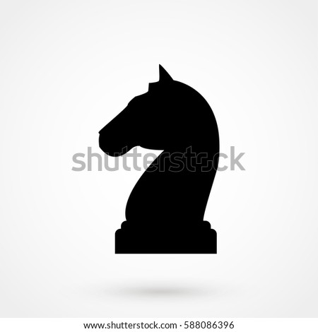 chess knight simple icon on