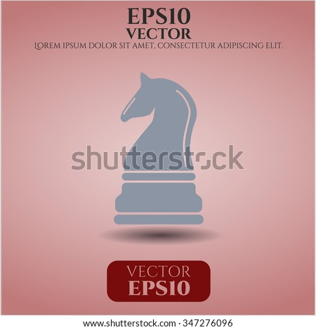 Chess knight vector icon