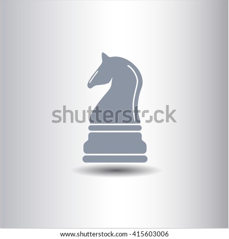 Chess knight vector icon or symbol
