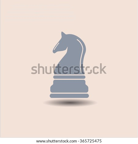 Chess knight vector symbol