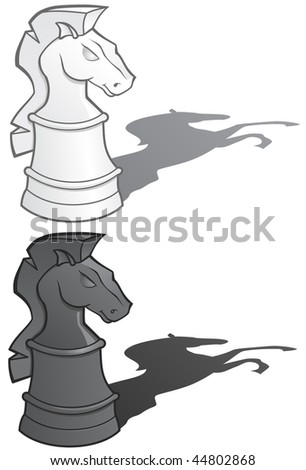 Chess Knights - vector illustration