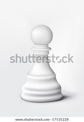 Chess Pawn Isolated on White. Vector.